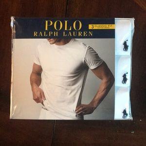 Men's Set if 3 - Polo White Classic Crews